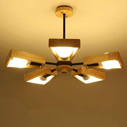 - 3/5-Light Sputnik Chandelier Ambient Light Painted Finishes Wood Metal Wood/Bamboo Creative 110-120V / 220-240V,Black,5