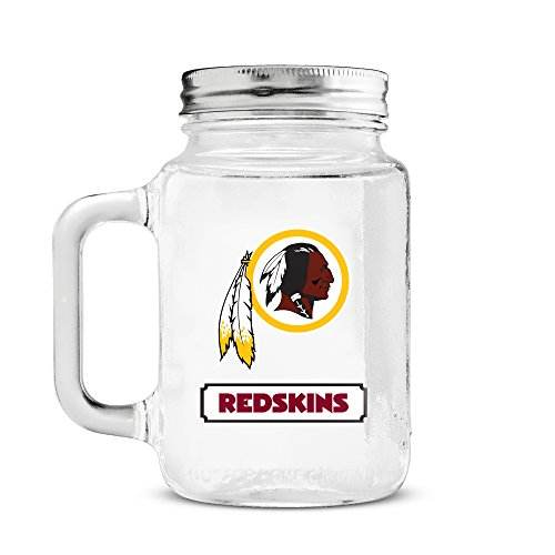 NFL Washington Redskins 20oz Glass Mason Jar