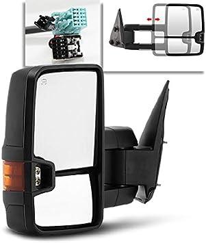Telescoping Power+Heat+LED Signal Towing Side Mirrors CHROME Driver Acanii Passenger For 2003-2006 Silverado Sierra