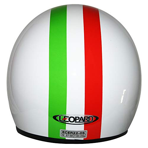Leopard LEO-604 Scooter Motorcycle Motorbike Open Face Crash Jet Helmet Road Legal 55-56cm USA S