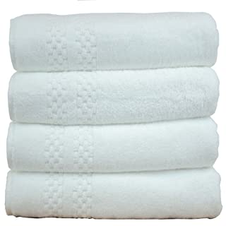 Chakir Turkish Linens Checkered Pattern Turkish Cotton White Bath Towel (Set of 4) (B00J132KR8) | Amazon price tracker / tracking, Amazon price history charts, Amazon price watches, Amazon price drop alerts