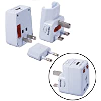 QVS UNIVERSAL TRAVEL POWER ADAPTOR WITH USB CHARGER / PA-C2 /