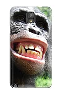 Galaxy Note 3 Case Cover - Slim Fit Tpu Protector Shock Absorbent Case (monkey Smile)
