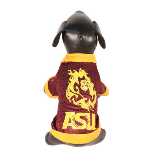 (NCAA Arizona State Sun Devils Athletic Mesh Dog Jersey (Team Color, Tiny))