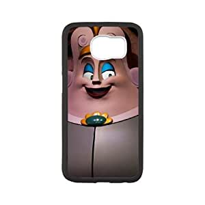 Samsung Galaxy S6 Cell Phone Case White Beauty and the Beast Character Armoire GOV
