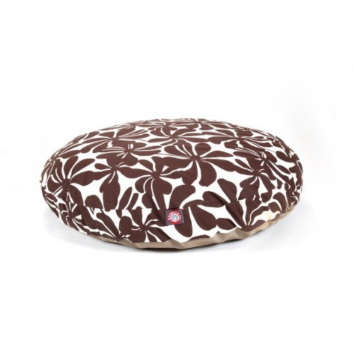Chocolate Plantation Large Round Indoor Outdoor Pet Dog Bed With Removable Washable Cover By Majestic Pet Products by Majestic Pet by Majestic Pet