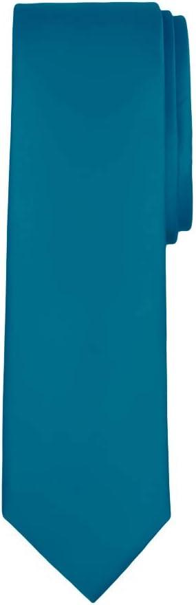 Jacob Alexander Mens Slim Width 2.75 Solid Color Tie Tan