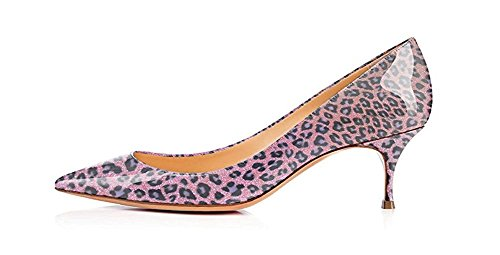 Fsj Donne Sexy Leopardo Serpente Stampe Animali Scarpe Scarpe A Punta Tacco Basso Gonne Pompe Taglia 4-15 Us Purple-leopard