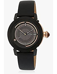 Titan Women's 'HTSE Self Energizing' Quartz Stainless Steel and Leather Automatic Watch, Color:Blue (Model: 2525NL01)