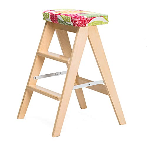 - ZCCTD Folding Step Stool Folding Chairs Kitchen Stool Small Stool Folding Chair Home Bench Solid Wood Simple (Color : A, Size : 1)