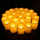 CANDLE CHOICE Realistic Flickering Bright Electric Candles,LED Flameless Votive Candles Set-1.5''(D) x2(H) Long Battery Life 120+ Hours(24 Pack)