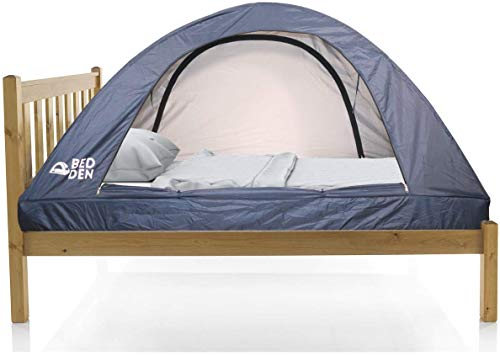 """Bed Den II - Foldable Privacy Bed Tent Twin XL (79.5"""" L x 37.4"""" W x 35"""" H) Pop Up College Dorm Room Kids Cozy Sleep Better"""