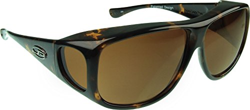 Fitovers Eyewear Aviator Sunglasses, Tortoiseshell, Polarvue - Standard Lenses Vs Polarized