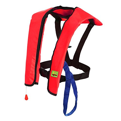 Premium Quality Automatic / Manual Inflatable Life Jacket Lifejacket PFD Floating Life Vest Inflate Survival Aid Lifesaving PFD Basic Red Color