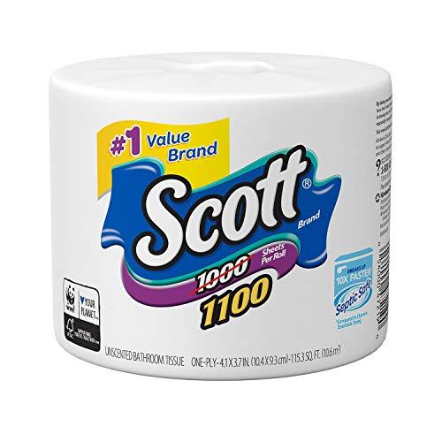 Scott 1000 Sheets Per Roll Toilet Paper,36 Rolls Bath Tissue