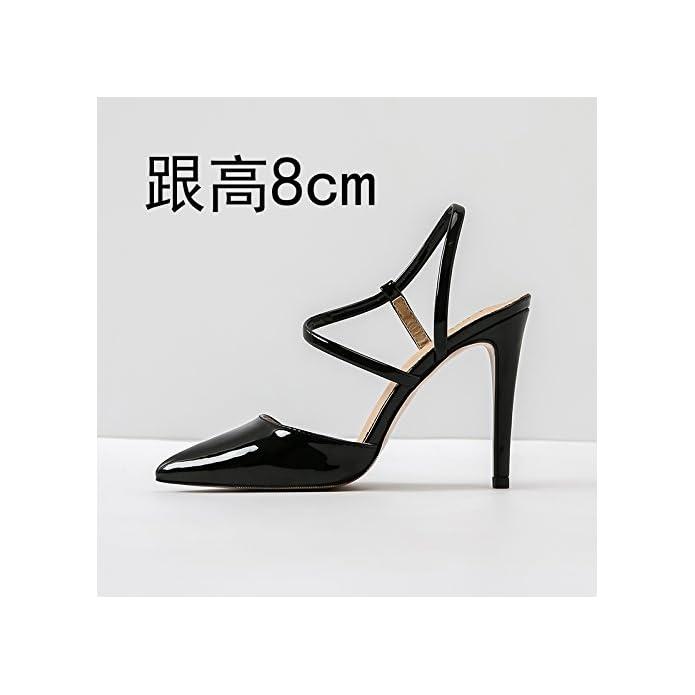 Vivioo Sandali Con Tacco Alto Shoessummer Fine Caviglia Tacchi Alti A Punta Piccola Taglia Grande Donna