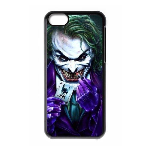 Z5N37 Le Joker Q5R8SS cas d'coque iPhone de téléphone cellulaire 5c couvercle coque noire IJ8ALE2RL