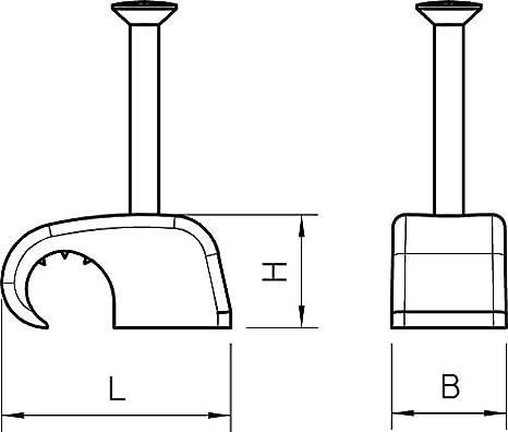 Abrazadera de u/ñas 7/ /12/mm 200/unidades, con 35/mm Clavo