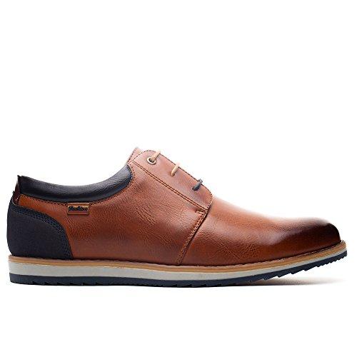 Zapatos el de Adecuado Uso Diario Imitación Conveniente Estaciones para Todas y Casual Cordones para Derby para Las Cómodos Cuero Camel Zapatos Hombre Oxford Zapatos El de Trabajo Caqxff