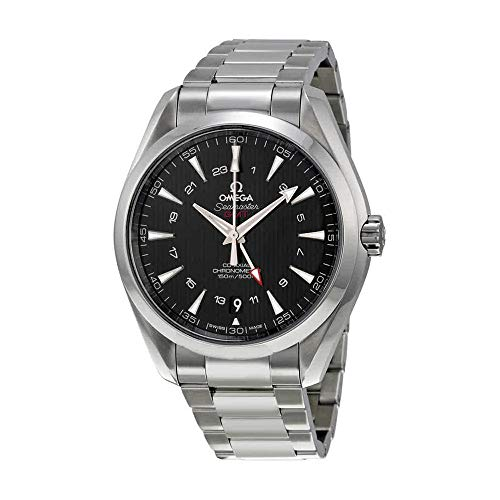 Omega Seamaster Aqua Terra GMT Automatic Black Dial Stainless Steel Mens Watch 231.10.43.22.01.001