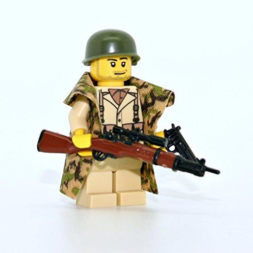 Modern Brick Warfare American WW2 Soldier Sniper Custom Minifigure