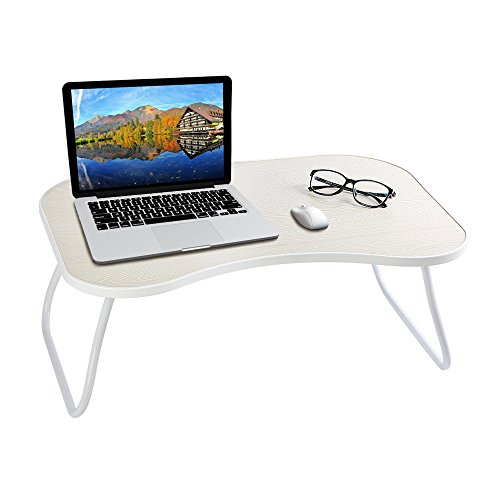 HOME BI Laptop Table for Bed, 23''x15''x9.65''(Large Size), Multifunction Lap Desk With Foldable Legs and Portable Size, Fit for 17'' Laptop or Smaller (White) by HOME BI