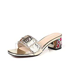 Slippers With Rhinestone