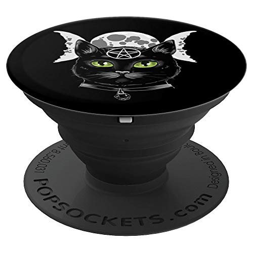 Halloween Pagan Roots (Black Magick Cat Halloween Triple Moon Goddess Witch Gift PopSockets Grip and Stand for Phones and)