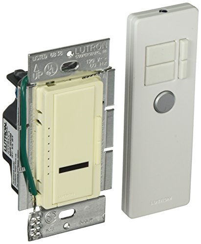 Lutron Maestro IR Dimmer Switch for Incandescent and Halogen Bulbs, Single-Pole or Multi-Location, with IR Remote Control MIR-600MT-AL, Almond