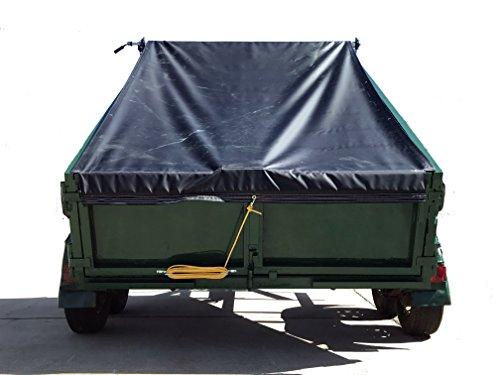 (Manual Cab Level Hand Crank Tarp Roller Kit for Dump, Trash and Landscape Trailers and Small Trucks with TARP (Polypropylene Mesh, W6'6' X 15'L))