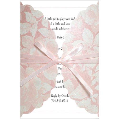 Pink Shimmer Baby Shower Invitations - Set of 20