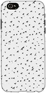 Snoogg Fly Cielo Diseñador Protectora Volver Funda Para El Iphone 6