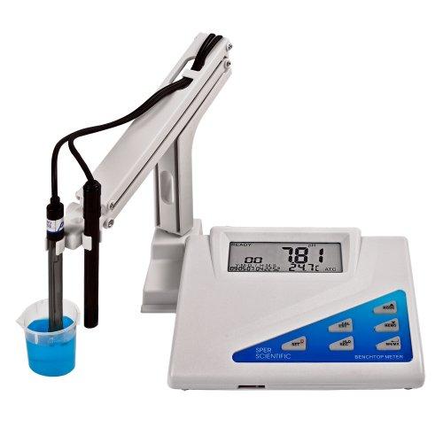 Sper Scientific LCD Display Benchtop pH-mV Meter, 0 to 14 pH Range, +/- 0.02 pH Accuracy, 0.01 Resolution