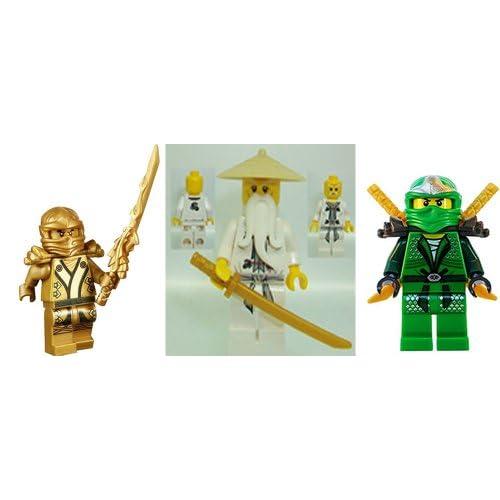 LEGO® Ninjago Lot of 3 - Lloyd Zx / Sensei Wu / Golden Ninja (Gold ...