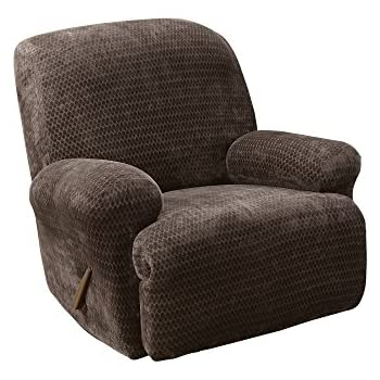 Sure Fit Stretch Pique - Wing Chair Slipcover - Taupe ...  |Amazon Sure Fit Slipcovers