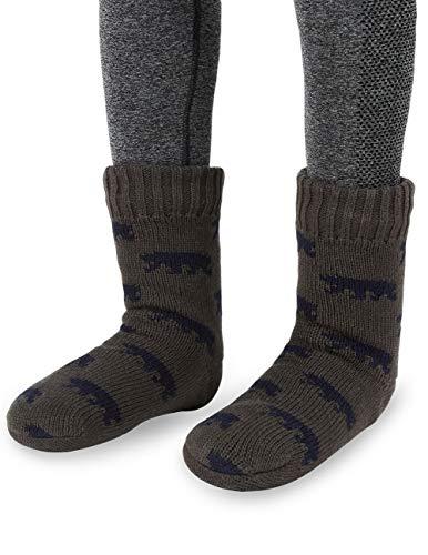 d347cc9546c6 MaaMgic Mens Fuzzy Bear Slipper Sock Warm Funny Knit Socks with Grips for Men  Women Boys