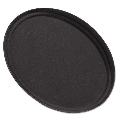 Carlisle 2500GR004 Fiberglass Griptite Oval Tray,  24 x 19.25 x 1.18
