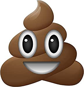 12 Quot Happy Pile Of Poo Emoji Wall Decal Funny Iphone