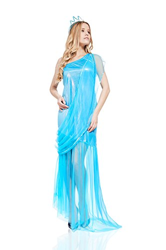 Adult Mermaid Sea Princess Queen Siren Fairy Costume Girl Role Play & Dress Up (Small/Medium, (Adult Themed Costumes)