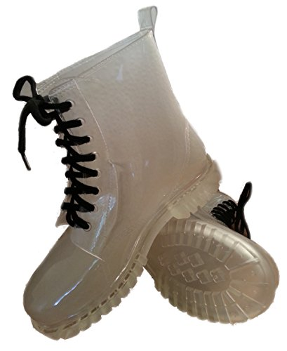Walking Doc Rain Dog Gardening Wellies Style Ankle Boots Clear Festival Transparent wqS8BXU