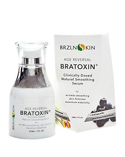 Bratoxin Instant Naturally Derived Hydrating Botox Alternative for Face Wrinkle Filler Anti Aging Wrinkle Serum with Skin Tightening Formula by BRZLNSKIN (30 mL.)