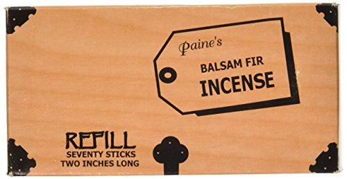 Paine's Balsam Fir Incense - 70 Sticks Refill - Two Inches Long
