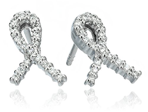 Roberto Coin Tiny Treasures Diamond Hope Stud Earrings