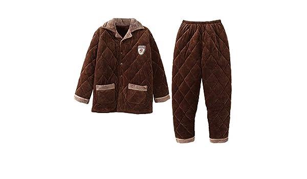 MEIXIA Pijamas Tops Negligees Batas Ropa De Dormir Pijamas Calientes para Hombres De Edad Avanzada: Amazon.es: Ropa y accesorios