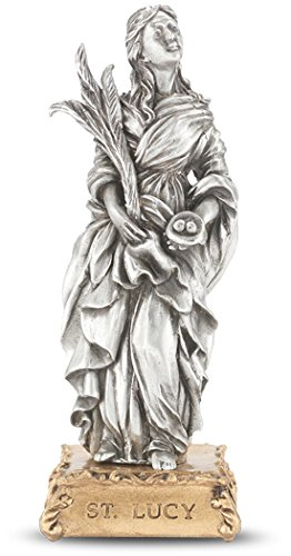 - Woodington's Saint Lucy 4.5 Inch Pewter Statue