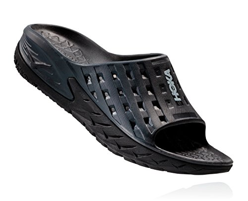 HOKA ONE ONE Men's Ora Recovery Slide,Black/Anthracite,US 7 M