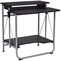 Tangkula Computer Desk Folding Freely Steel Table Workstation Home Office furniture Black