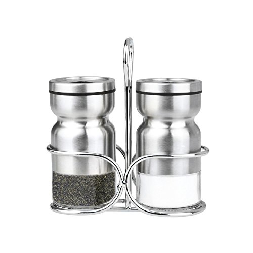 Cuisinox Salt and Pepper Shaker Set with Caddy, Silver