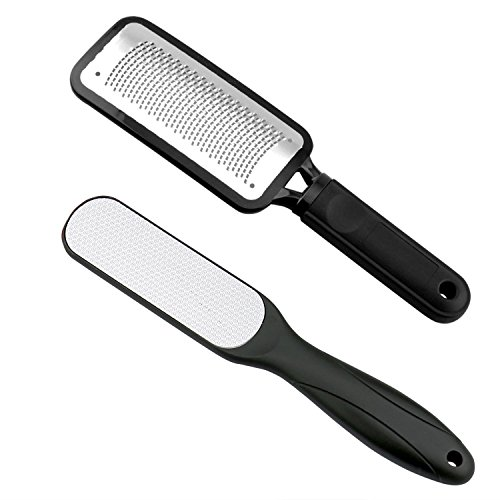 Fairyland 2 PCS Foot File,Colossal Foot Rasp and Dual Sided Foot File Professional Pedicure Rasp Tools Stainless Steel Feet Corn Callus Remover (Professional File)