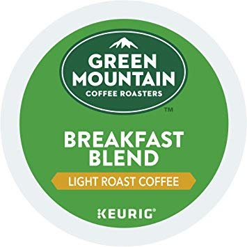 Green Mountain Coffee Roasters Breakfast Blend Flavor Coffee, Keurig Single-Serve K-Cup Pods, Light Roast